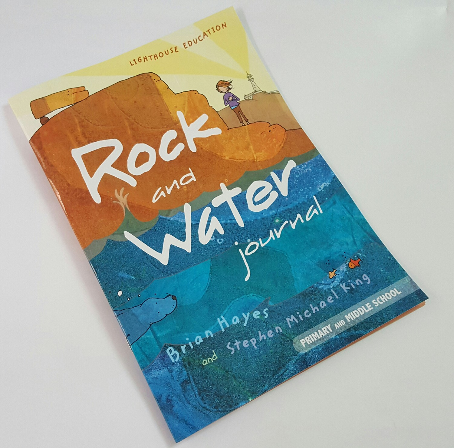 The cover of the Rock and Water journal for students to write their reflections in