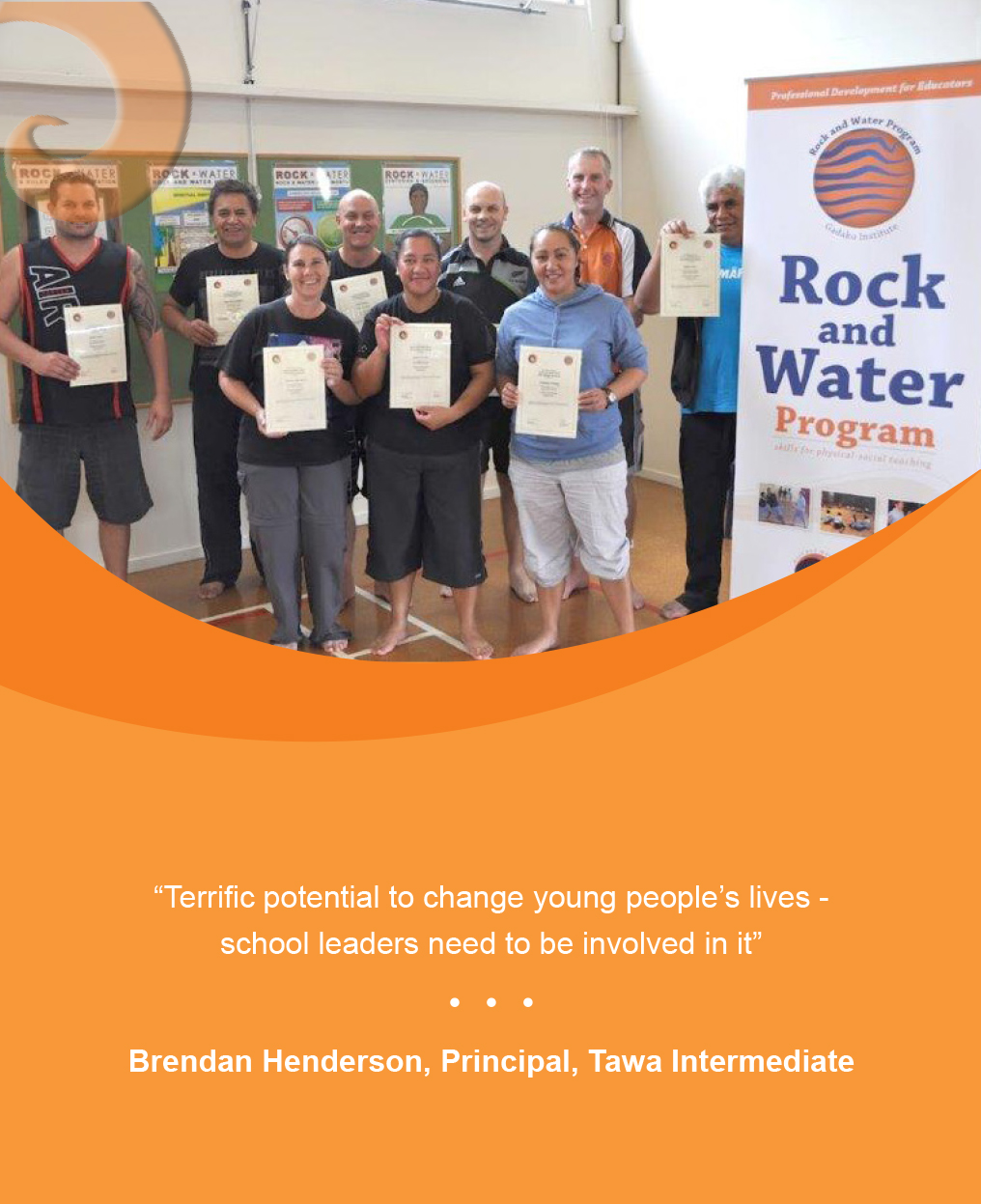 Happy trainees with their Rock and water Accreditation certificates